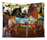 Seabreeze Carousel Horse Tapestry