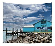 Seafood On The River  Tapestry