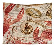 Seafood Restaurant Postcard Tapestry
