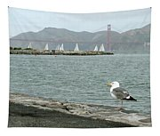 Seagull And Golden Gate Bridge Tapestry