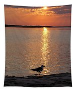 Seagull At Sunset Tapestry