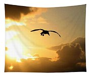 Seagull Silhouette Tapestry