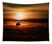 Seagulls On The Beach Tapestry