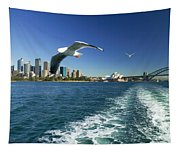 Seagulls Over Sydney Harbor Tapestry