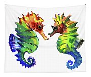 Seahorse Love Tapestry