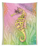 Seahorse Violet Tapestry