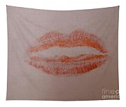 Sealed With A Red Kiss Tapestry