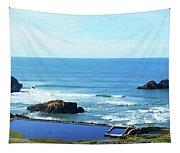 Seascape San Francisco Sutro Bath Pacific Ocean Shore Tapestry