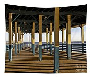 Seascape Walk On The Pier Tapestry
