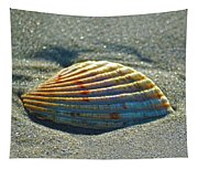Seashell After The Wave Square Tapestry