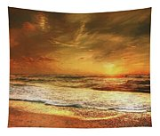 Seashore Sunset Tapestry