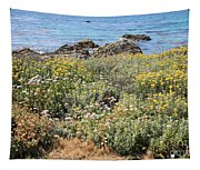 Seaside Flowers Tapestry