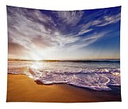 Seaside Sunset Tapestry