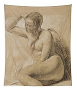 Seated Female Nude Tapestry