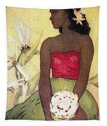 Seated Hula Dancer Tapestry