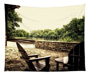 Seating For Two By The Creek Tapestry