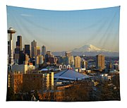 Seattle Cityscape Tapestry