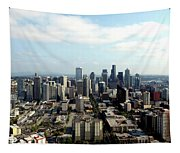 Seattle From Above Tapestry