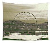 Seattle Great Wheel And Pier 57 Tapestry