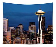 Seattle Skyline Tapestry