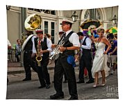 Second Line Wedding On Bourbon Street New Orleans Tapestry
