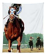 Secretariat Winning The Belmont Stakes, Jockey Ron Turcotte Looking Back, 1973 Tapestry