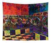 Secret Life Of Laundromats Tapestry