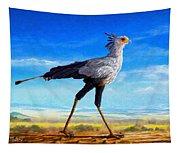 Secretary Bird Tapestry