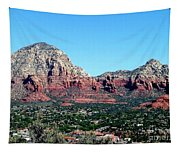 Sedona Arizona City Scape Tapestry