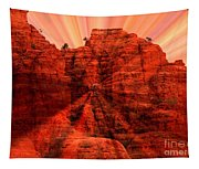 Sedona Sunset Energy - Abstract Art Tapestry