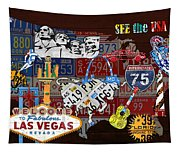 See The Usa Vintage Travel Map Recycled License Plate Art Of American Landmarks Tapestry