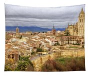 Segovia Cathedral View Tapestry
