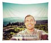 Self Portrait From A Mountain Top Tapestry