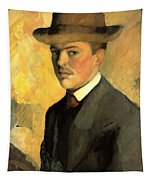 Self Portrait With Hat Tapestry