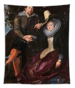 Self Portrait With Isabella Brandt, His First Wife, In The Honey Tapestry