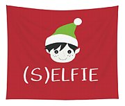 Selfie Elf- Art By Linda Woods Tapestry