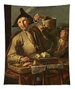 Seller Of Sweets And Donuts Tapestry
