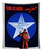 Send Us More And Fast -- Ww2  Tapestry