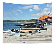 Sennen Cove Lifeboat And Pilot Gigs Tapestry