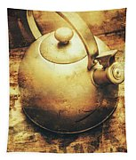 Sepia Toned Old Vintage Domed Kettle Tapestry