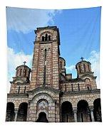 Serbian Orthodox Church Of Saint Mark Belgrade Serbia Tapestry