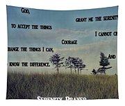 Serenity Prayer Field Tapestry