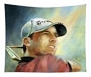 Sergio Garcia In The Castello Masters Tapestry