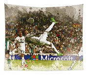 Sergio Ramos Tries To Score A Goal  Tapestry