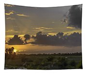 Setting Sun Before The Storm Tapestry