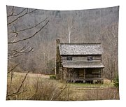 Settlers Cabin In Cades Cove Tapestry