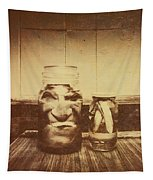 Severed And Preserved Head And Hand In Jars Tapestry
