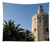 Seville - A View Of Torre Del Oro 2 Tapestry