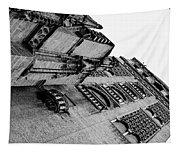 Seville - Giralda In Black And White Tapestry