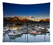 Seward Alaska Boat Marina Tapestry